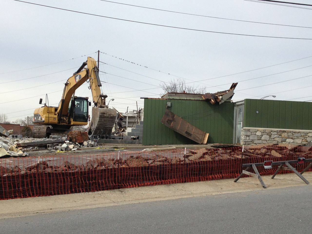 PHOTOS: Demolition of Three Brothers Restaurant on Haywood Street in Asheville