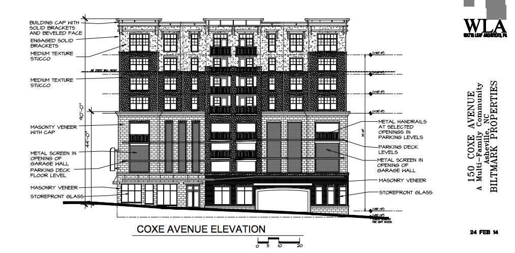 Four-story apartment building w/ parking deck proposed for Asheville's South Slope