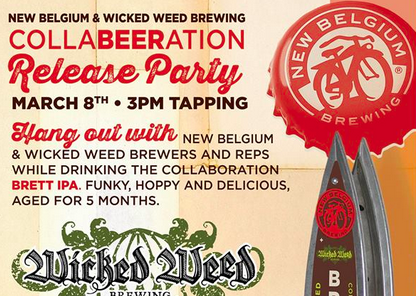 BREW-ed Beer News: Wicked Weed and New Belgium celebrate beer collaboration on March 8