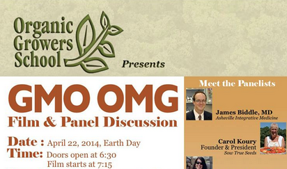 'GMO OMG' film and panel discussion set for April 22 in Asheville