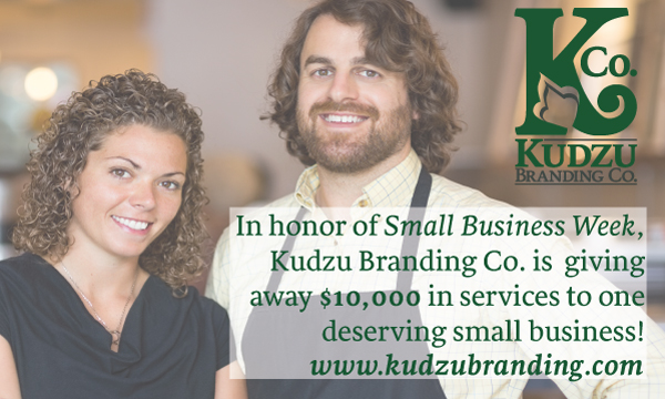 Kudzu Branding Co. giving away $10,000 to help a small business grow