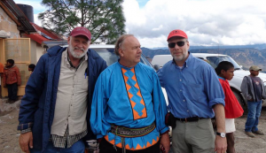 From left to right: Mickey Mahaffey, Romayne Wheeler (critically acclaimed pianist who lives with the Tarahumara), Dr. Dan Lieberman.