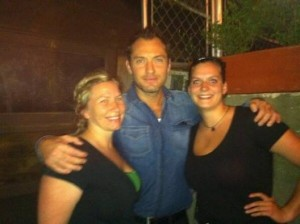 Jude Law at Bouchon restaurant in Asheville/ photo courtesy of Gus Frisbee