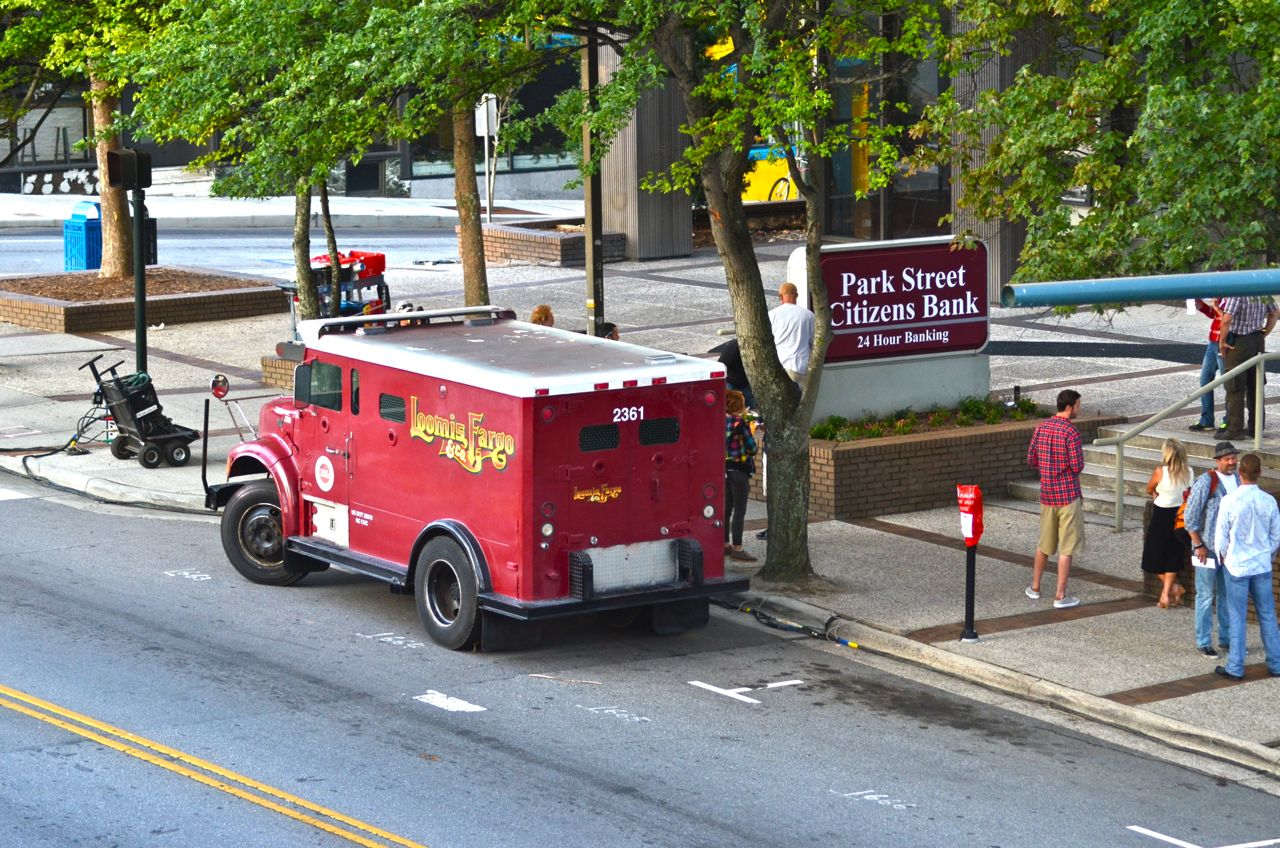 PHOTOS Day 1 of filming Loomis Fargo movie in downtown Asheville