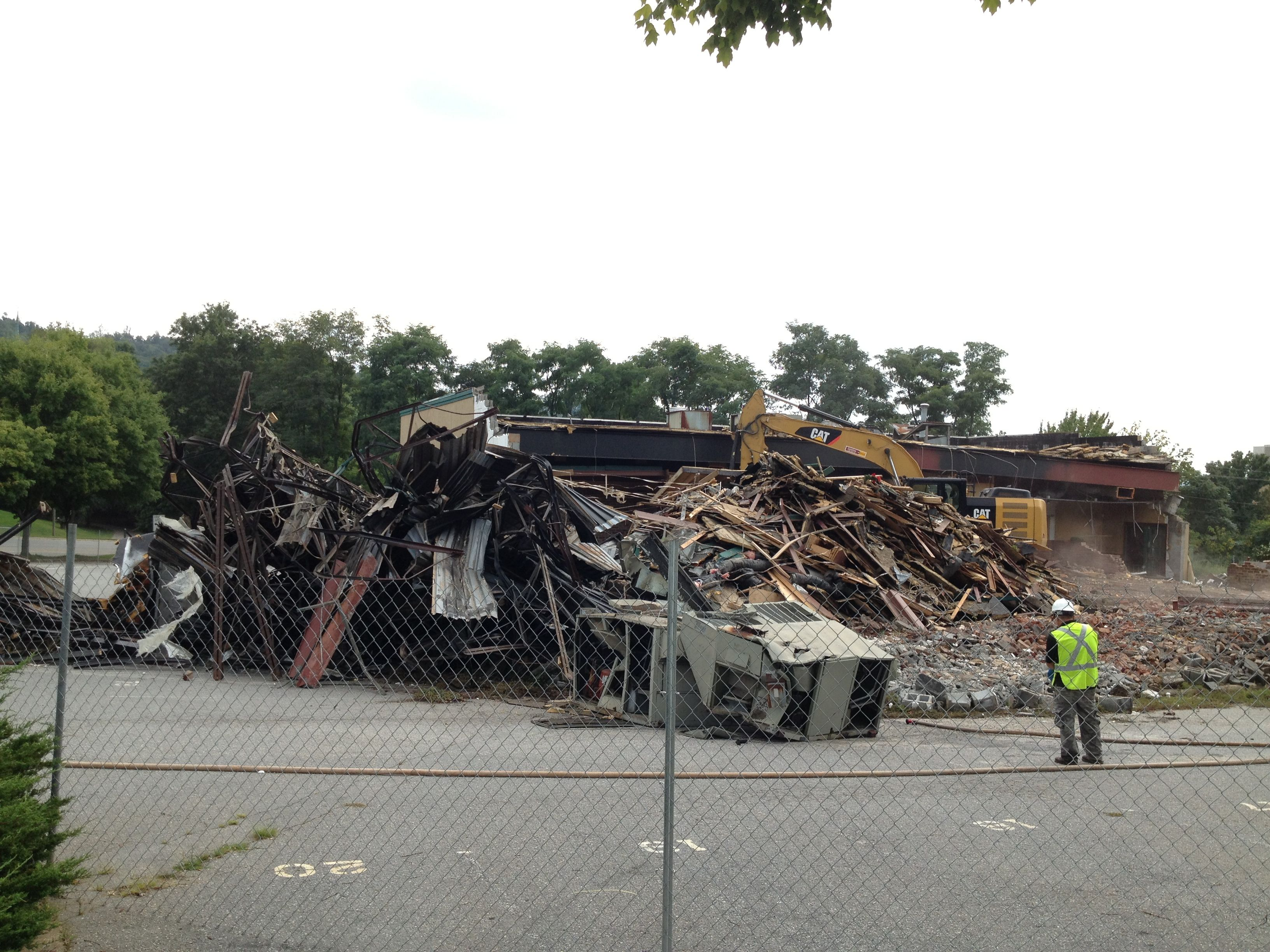 PHOTOS Demolition of former TK Tripp's restaurant in downtown Asheville