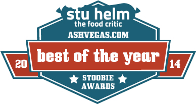 Stu Helm, Food Critic, awards 2014 Stoobies to Asheville hot coffee, sammie, late night small bite