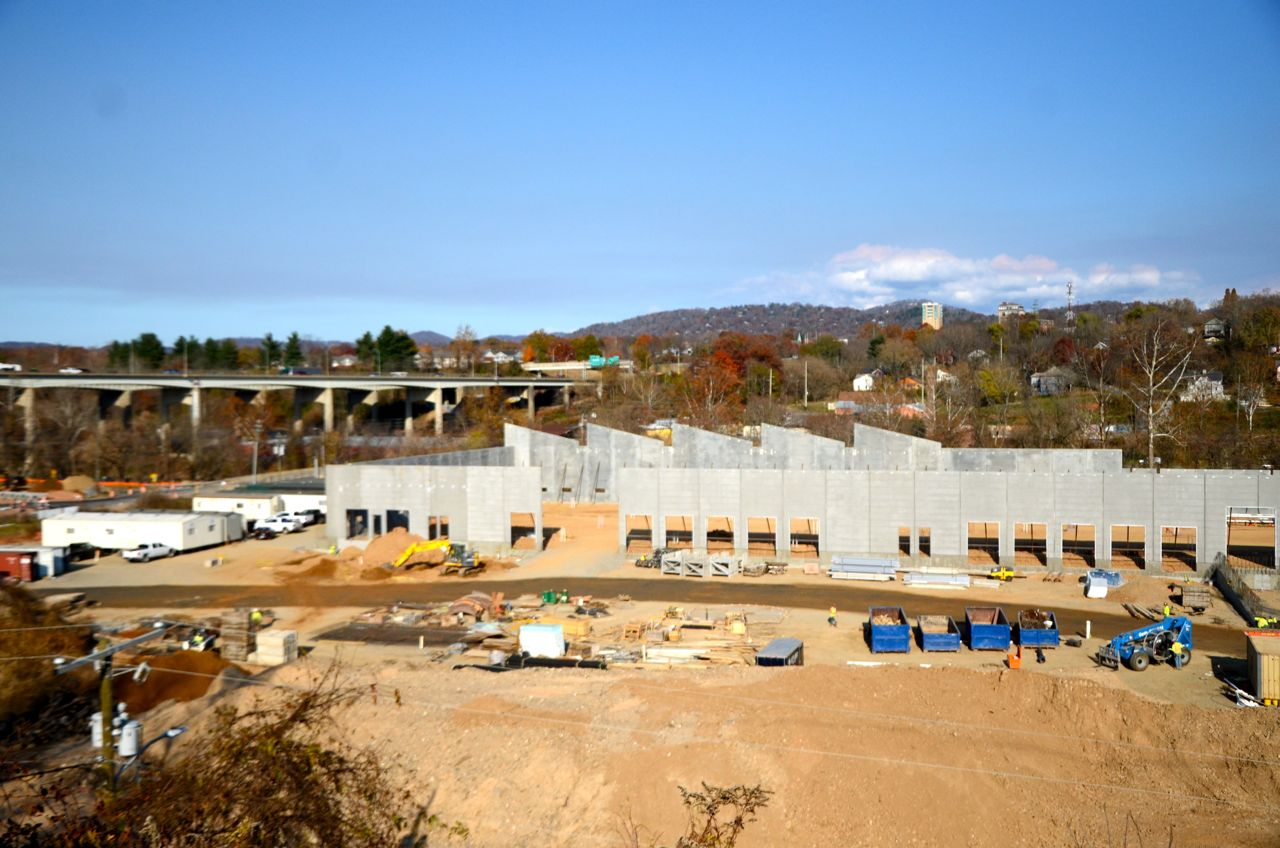 PHOTOS Construction update on New Belgium's new Asheville brewery