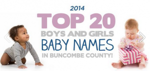 Ashvegas 2014 Year in Review: Top baby names in Buncombe County