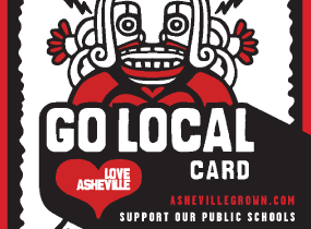 Buy an Asheville Business Alliance 'Go Local Card' in Feb, March and benefit local nonprofits