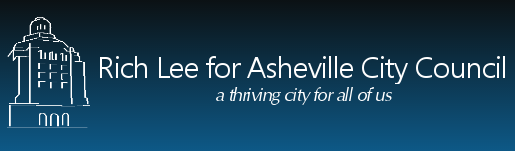 The 'Rich Lee for Asheville City Council' website
