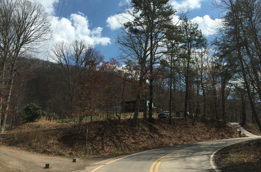 The Hookers Gap Road property where Jason Owens lived in Candler. Photo by Jason Sandford