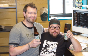 Josh Bailey, left, and Gary Sernack of Bhramari Brewhouse in Asheville/ Photo by Ruthie Keith
