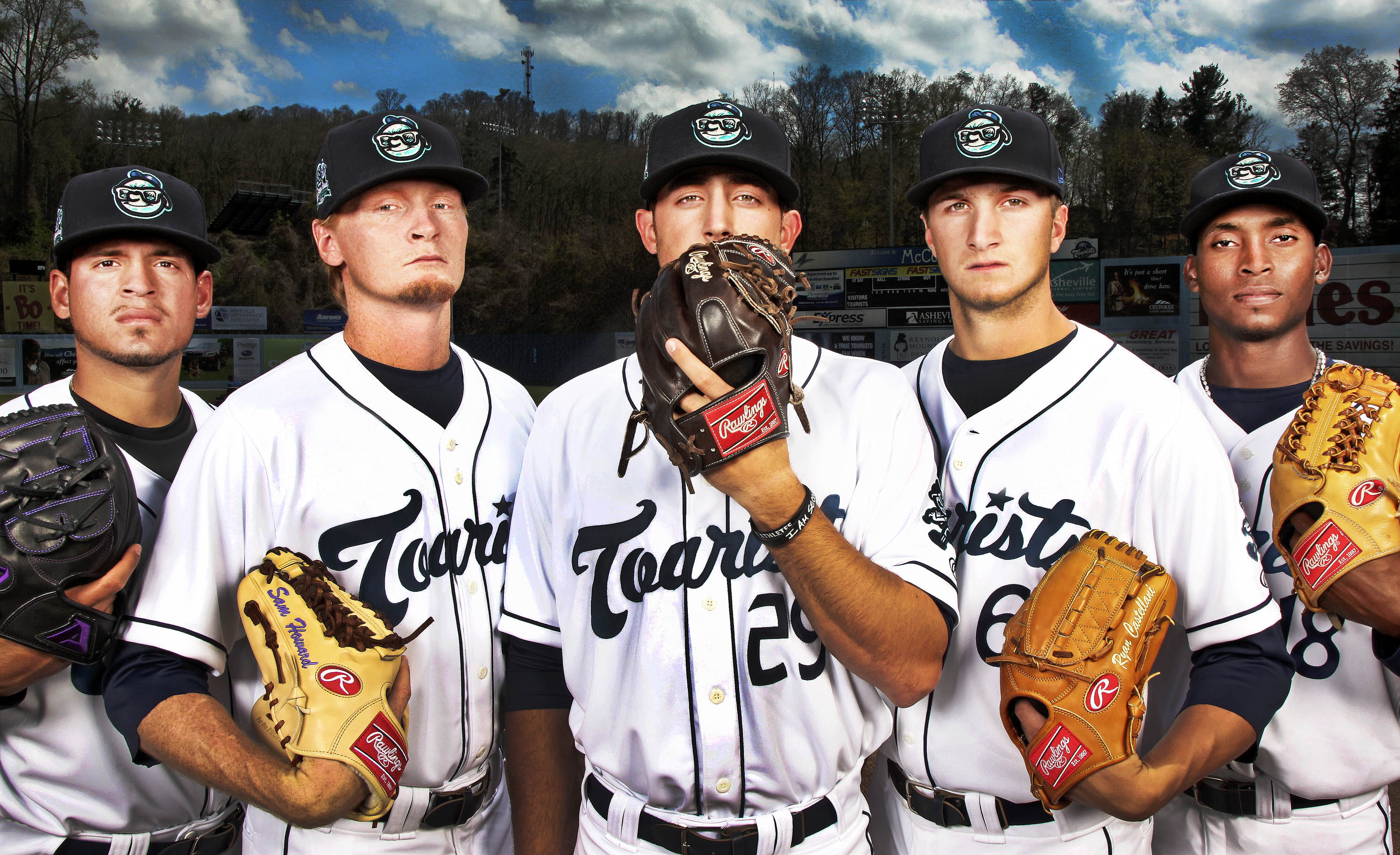 Asheville Tourists 2015 pitching staff/ Photo by STEWART O'SHIELDS for Ashvegas.com