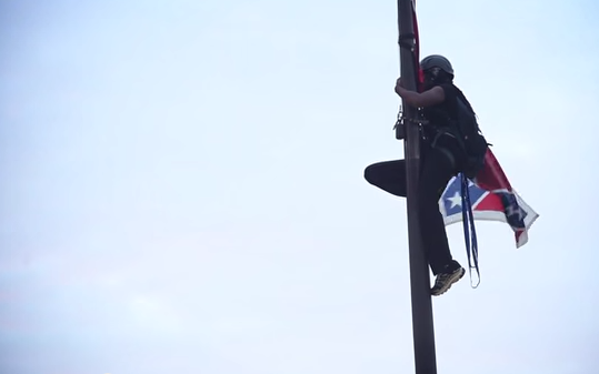 Asheville videographer captures activist taking down Confederate flag in South Carolina