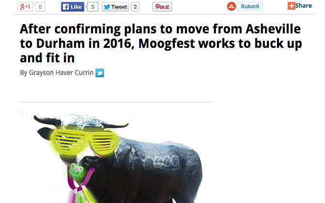 IndyWeek: Moogfest announces move to Durham