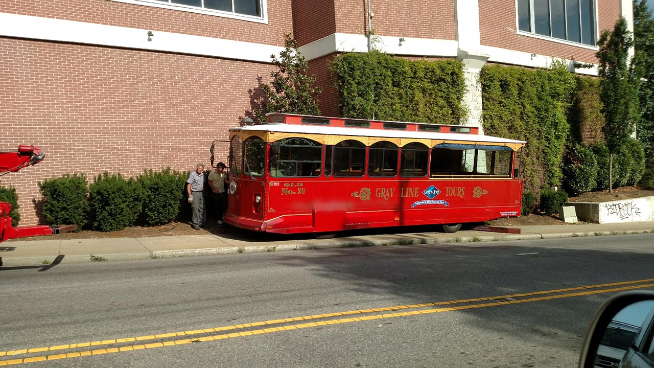 Ashvegas Hot Sheet: Tourist trolley goes off track