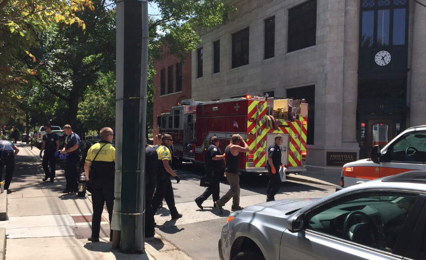 Bloody stabbing in downtown Asheville investigated