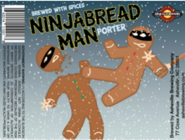 Looking for a new holiday brew? Try Asheville Brewing's Ninjabread Man porter