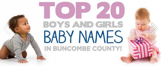 Ashvegas Year in Review 2015: Top baby names in Buncombe County