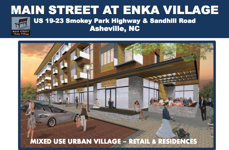 For sale: Residential and retail space at Main Street at Enka Village