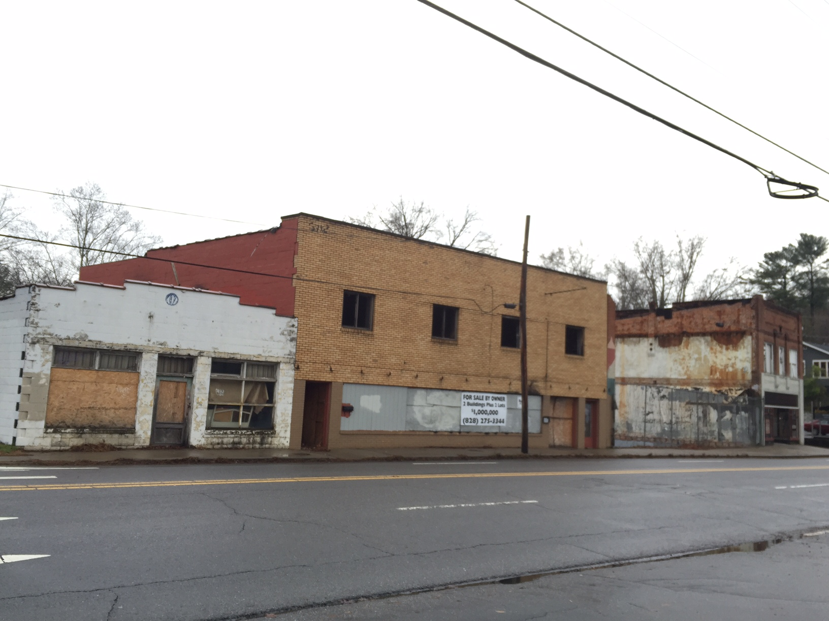 For sale: Dilapidated buildings in prime North Asheville location for $1 million