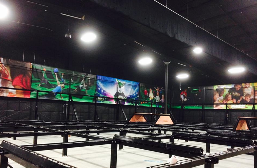 Launch Trampoline Park in south Asheville nears completion