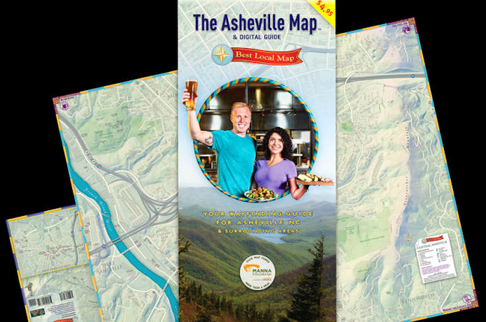 Second edition of The Asheville Map on sale now; proceeds benefit MANNA Food Bank
