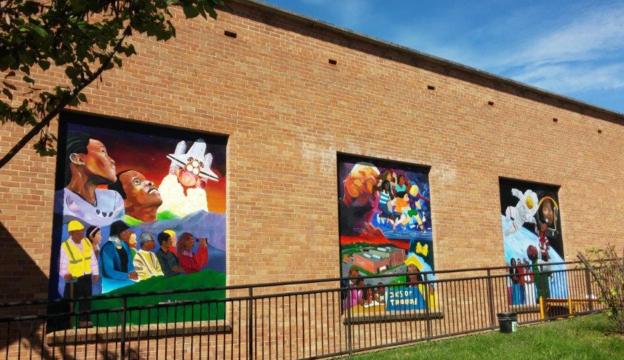Ashvegas Hot Sheet: Mural project spruces up Edington Center in Asheville's Southside neighborhood