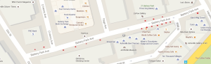 A map of the downtown Asheville area where the new meters will be installed.