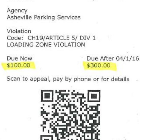 Somebody is RickRolling downtown Asheville motorists with fake parking tickets