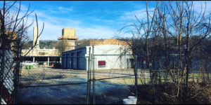 A new bar is planned for this lot on Asheville's South Slope. This view is from Federal Alley at the rear of the lot, which faces Coxe Avenue at the front.