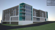 The design for the new Towne Place Suites hotel proposed off Merrimon Avenue near downtown Asheville.