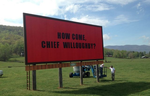 Here are the three billboards in the 'Three Billboards' movie being shot near Asheville