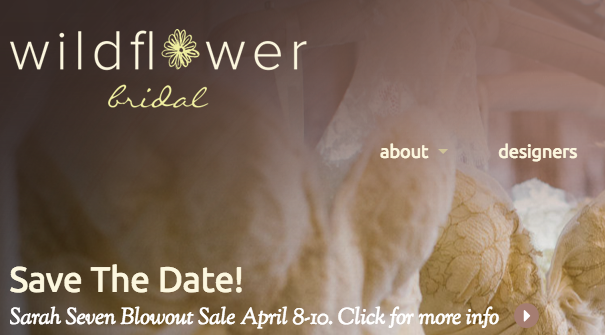 Wildflower Bridal shop in Asheville is having a big sale this weekend