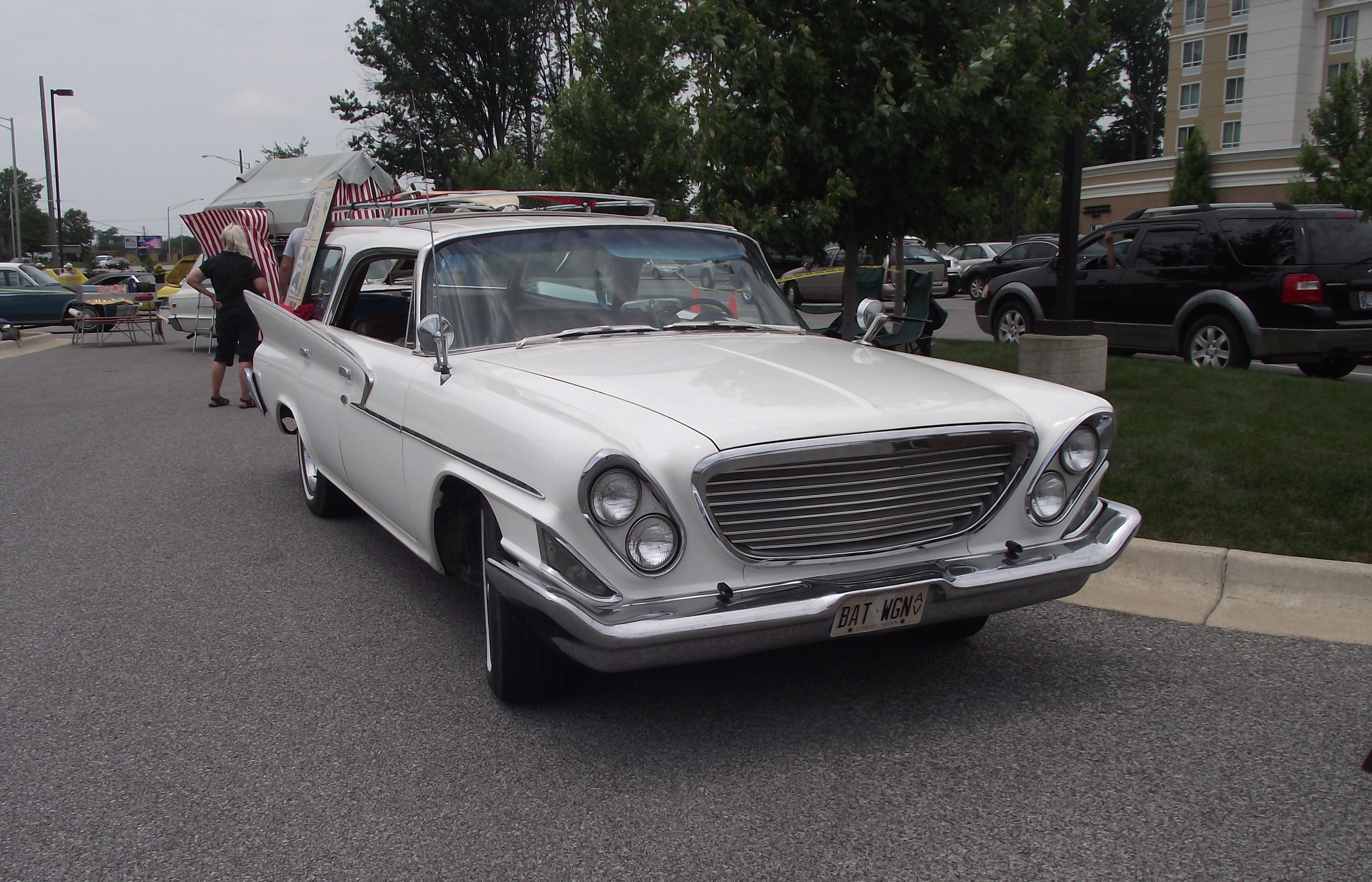 Vintage station wagons on display in Fletcher June 25