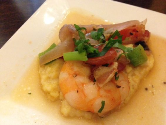 Awesome shrimp 'n' grits from Strada.