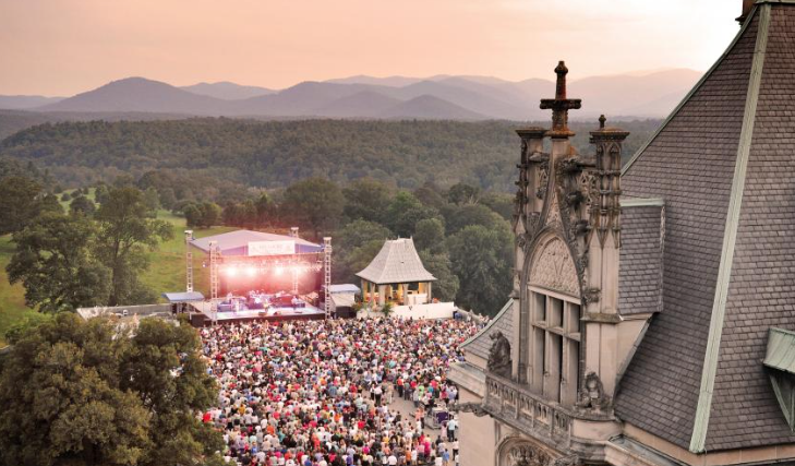 The summer concert series at Biltmore Estate draws big-name musicians to an unforgettable setting./ Photo courtesy of The Biltmore Company