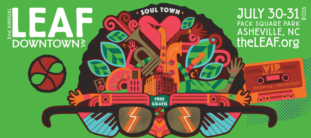 LEAF Downtown AVL '16 announces lineup: WAR, Big Sam's Funky Nation, Bill Myers & The Monitors, much more
