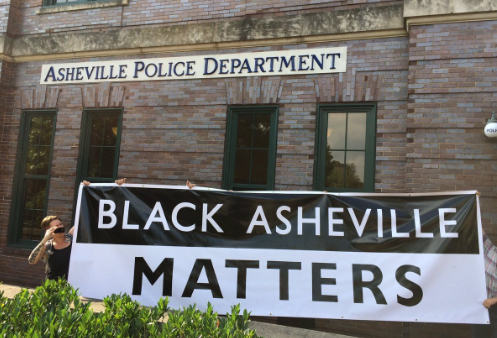 Asheville Blade: Protesters arrested during sit-in at Asheville Police Department