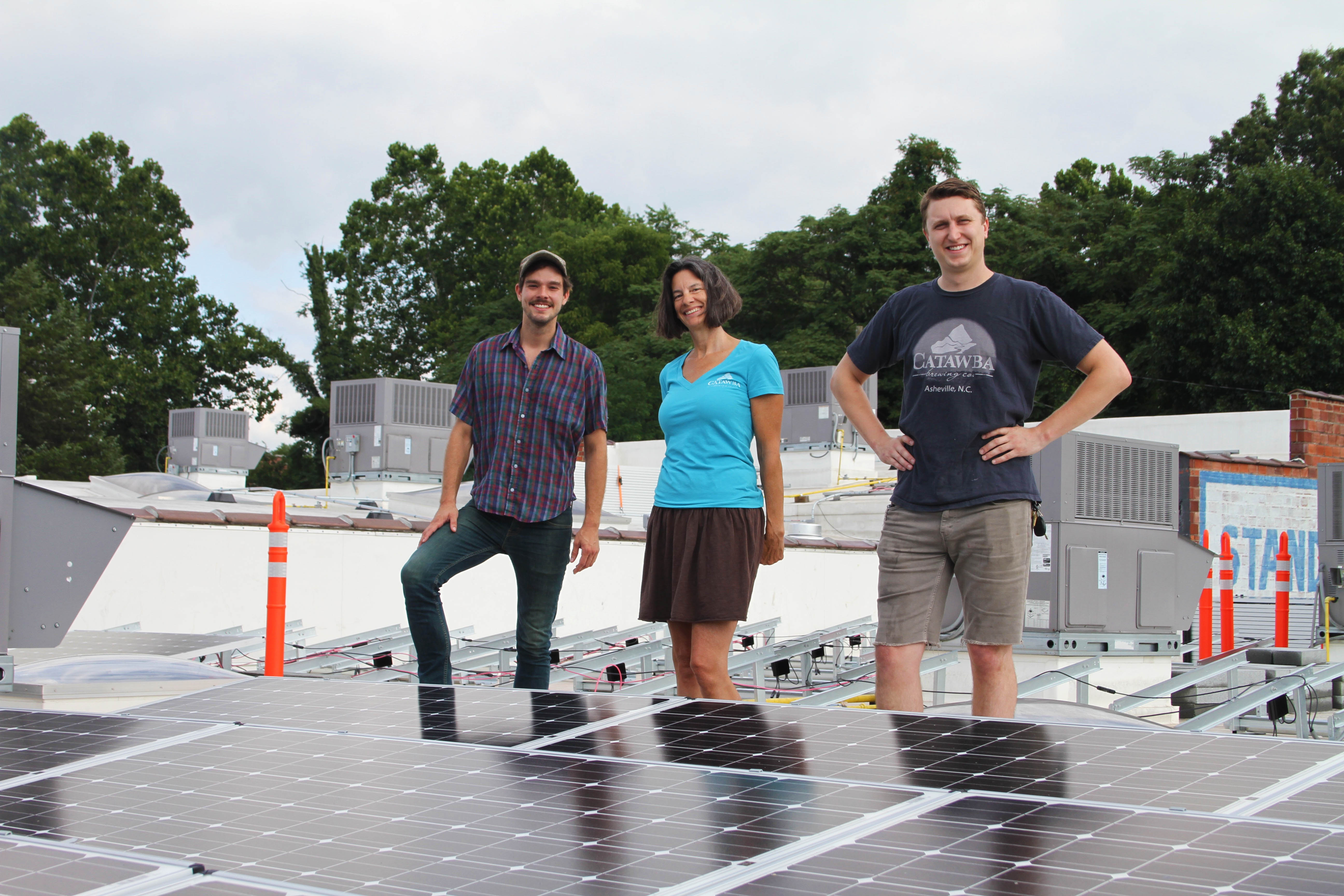 Solar panels installed atop Banks Avenue building on Asheville's South Slope