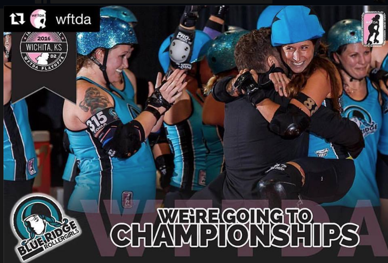 Blue Ridge Roller Girls kick ass, punch ticket to November championships