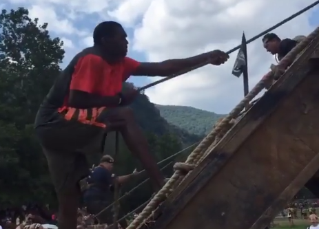 Ashvegas celebrity spotting: Randy Moss at Spartan Race in Black Mountain