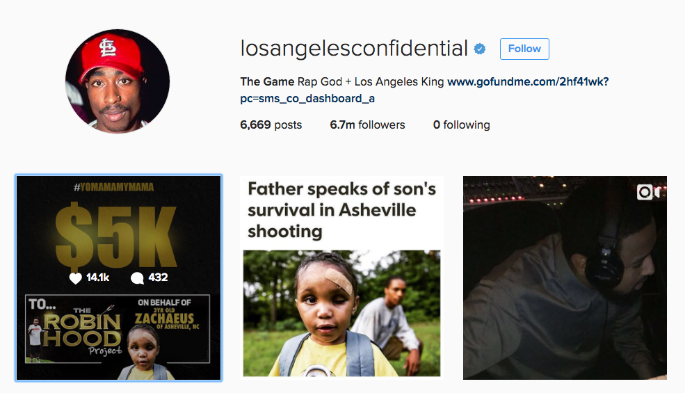L.A. rapper The Game comes to financial aid of Asheville boy who was shot, left for dead