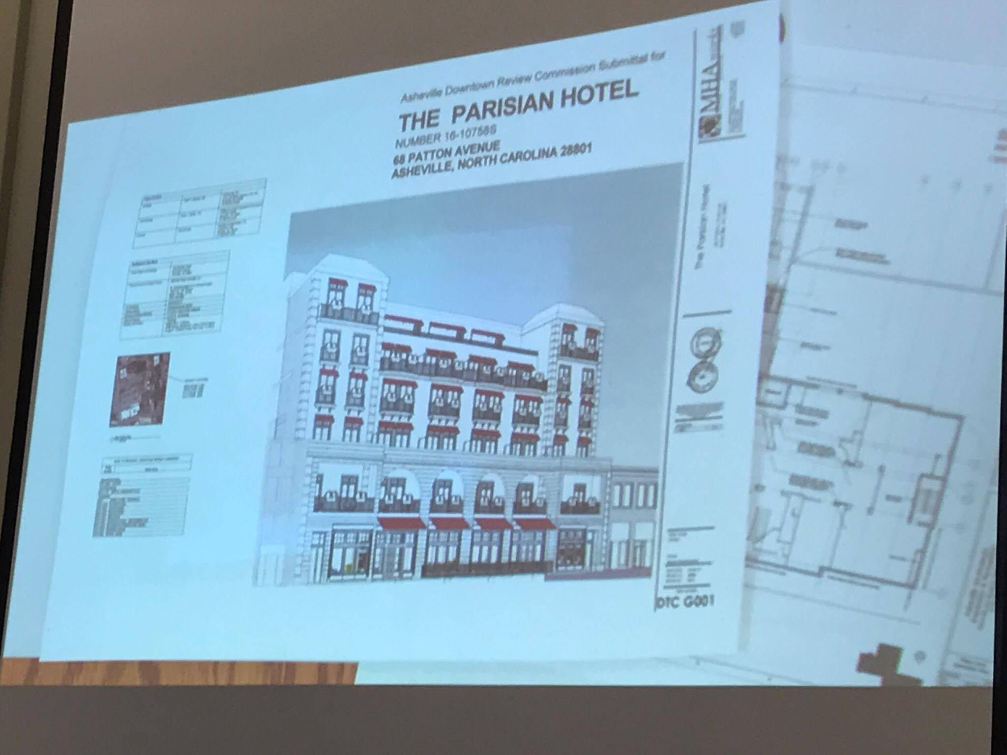 Parisian hotel proposal for downtown Asheville set for next review