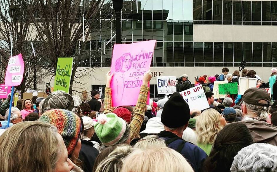 The Women's March on Asheville/ photo by Ali McGhee, Asheville Grit