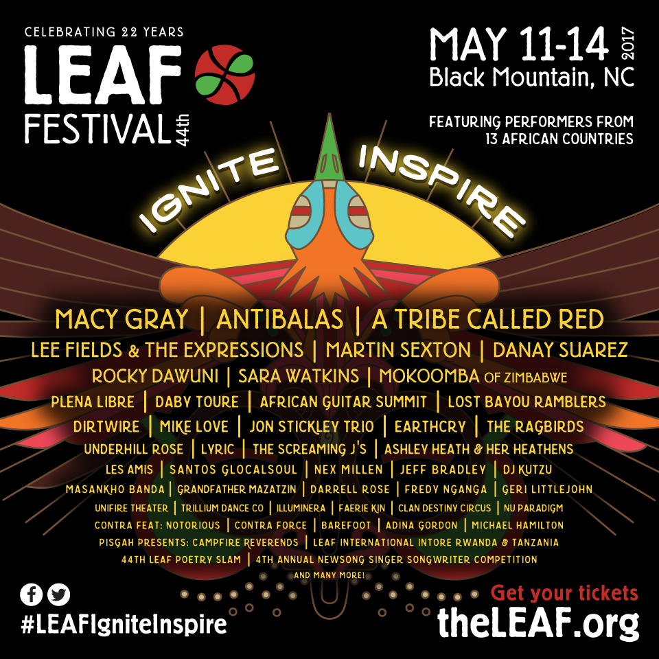 LEAF Festival in May features Macy Gray, Antibalas, and a ton of Asheville acts