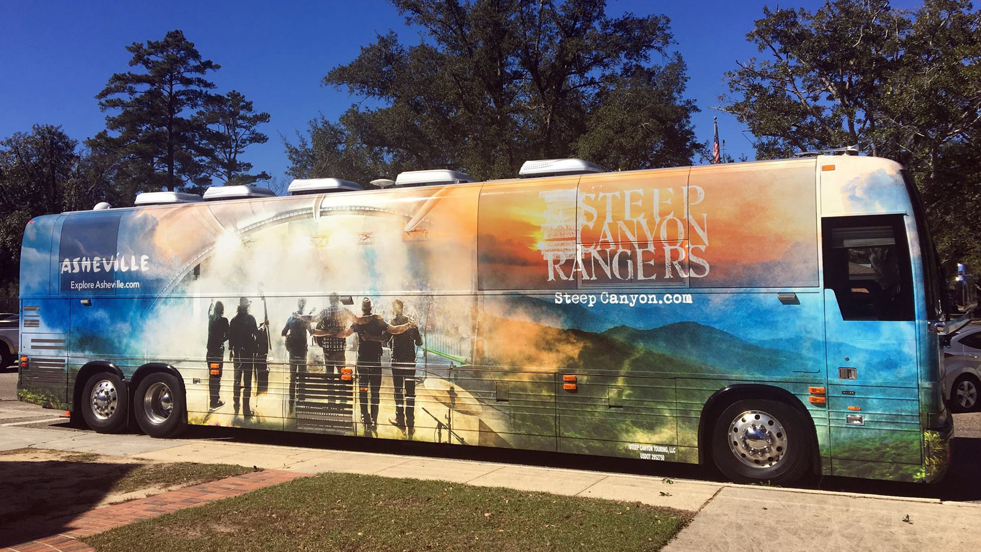 Steep Canyon Rangers bus will be rolling Asheville billboard