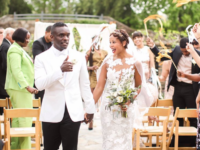 Chris Chalk and Kimberly Mitchell were married recently at the N.C. Arboretum in Asheville./ Photo via Chris Chalk on Instagram, photo by Ariel Perry