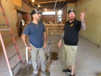 Dirk Hillegas, left, has been named the head brewer at Triple Seven Brewhouse, the  new craft brewery in the works at Westville Pub in West Asheville. Drew Smith, owner of Westville Pub, says the new brewery will allow the pub, a local institution, room to grow and evolve.