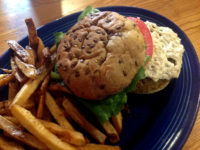 "EAT OF THE WEEK: Ugly Vegan ""Cheese"" ""Burger"" at Rosetta's"